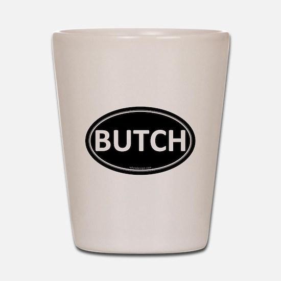 BUTCH Black Euro Oval Shot Glass
