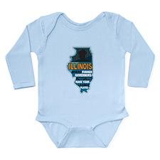Illinois Governors Long Sleeve Infant Bodysuit
