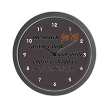 Verse: Match Glows Bright Wall Clock