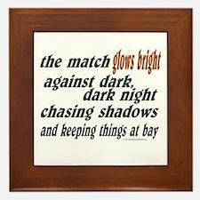 Verse: Match Glows Bright Framed Tile