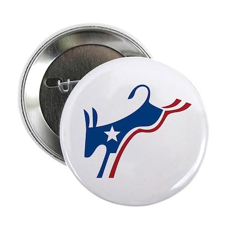 "Democrat Kicking Donkey 2.25"" Button"