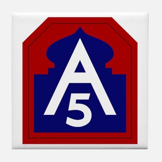 5th Army Tile Coaster