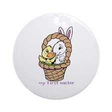 My First Easter with Basket Ornament (Round)