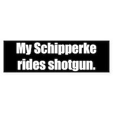 My Schipperke rides shotgun (Bumper Sticker)