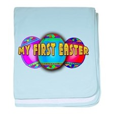 MY FIRST EASTER with Eggs baby blanket