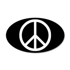White Peace Sign Wall Decal