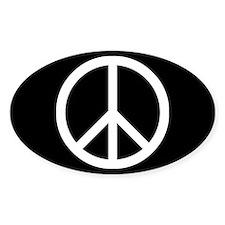 White Peace Sign Bumper Stickers