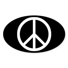 White Peace Sign Decal