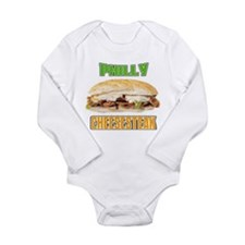 Philly CheeseSteak Long Sleeve Infant Bodysuit