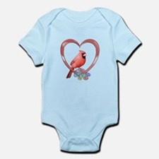 Cardinal in Heart Infant Bodysuit