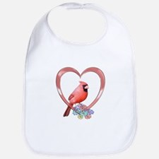 Cardinal in Heart Bib