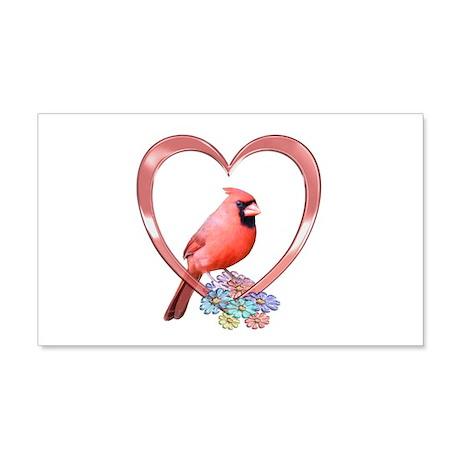 Cardinal in Heart 22x14 Wall Peel