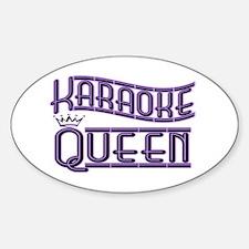 """""""Karaoke Queen"""" Oval Decal"""