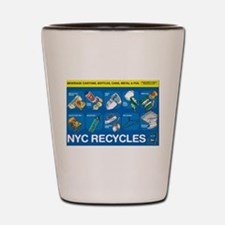 NYC Recycles Shot Glass
