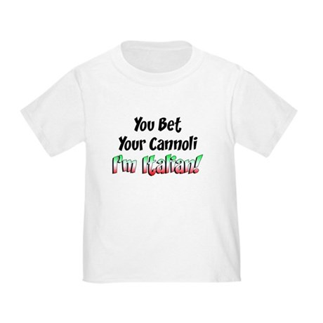 Bet Your Cannoli Kids Toddler T-Shirt