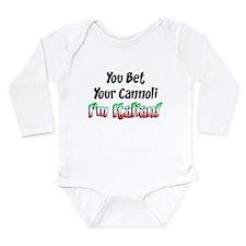 Bet Your Cannoli Kids Long Sleeve Infant Bodysuit
