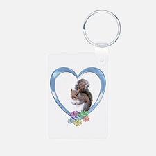 Squirrel in Heart Keychains