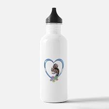 Squirrel in Heart Sports Water Bottle