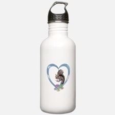Squirrel in Heart Water Bottle