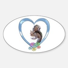 Squirrel in Heart Decal