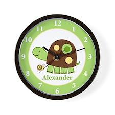 Laguna Turtle Nursery Wall Clock - Alexander