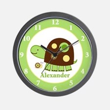 Laguna Turtle Nursery Wall Clock - Alexander