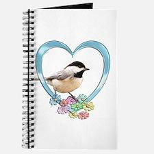Chickadee in Heart Journal