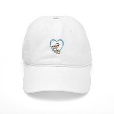 Chickadee in Heart Baseball Baseball Cap