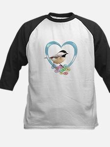 Chickadee in Heart Tee