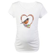 Robin in Heart Shirt
