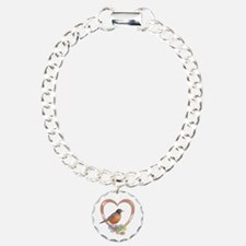 Robin in Heart Bracelet