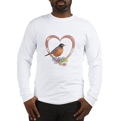 Robin in Heart Long Sleeve T-Shirt