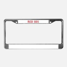 Red Sux Vintage License Plate Frame