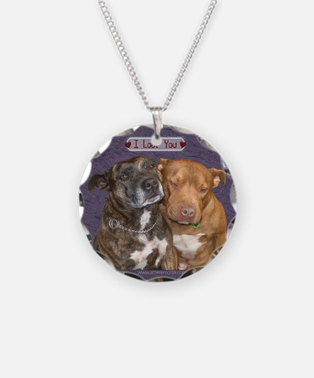 Staffy I Love You Necklace