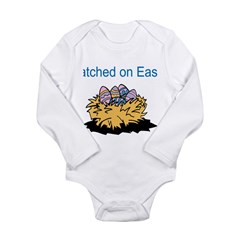 Hatched on Easter Long Sleeve Infant Bodysuit