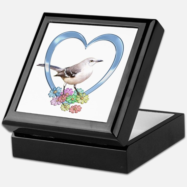 Mockingbird in Heart Keepsake Box