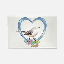 Mockingbird in Heart Rectangle Magnet