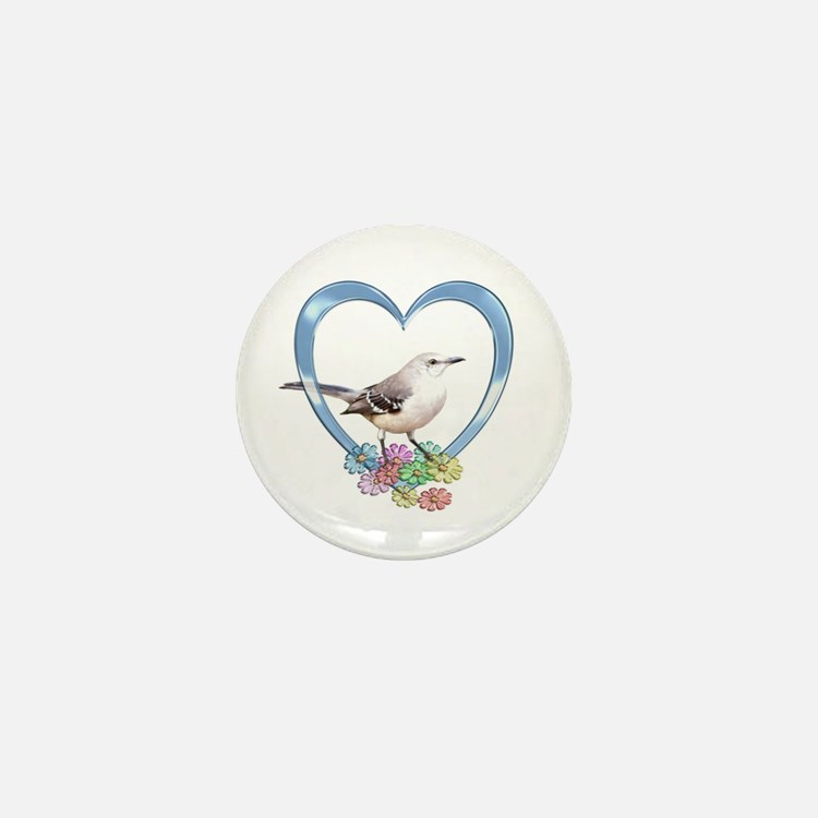 Mockingbird in Heart Mini Button