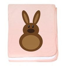 Chocolate Easter Bunny baby blanket