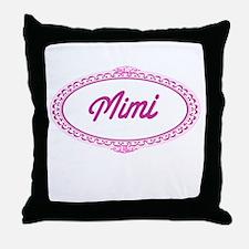 Pink Mimi Throw Pillow