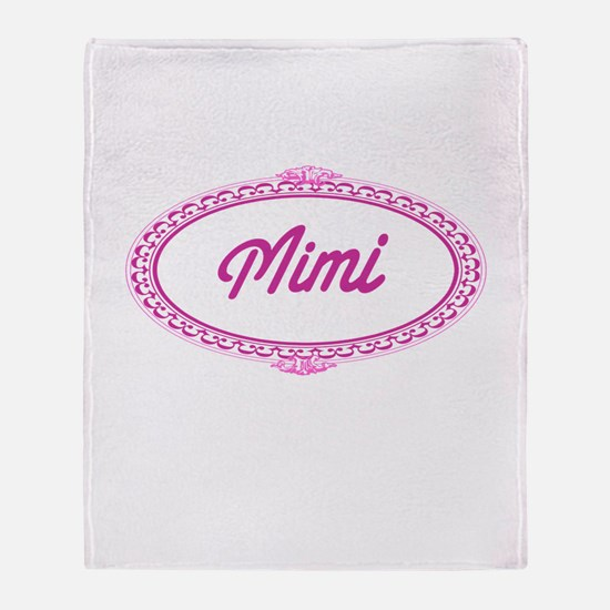 Pink Mimi Throw Blanket