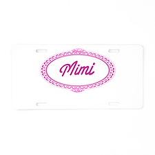 Pink Mimi Aluminum License Plate