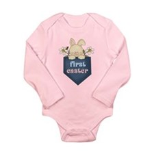 Babys 1st Easter Bunny Long Sleeve Infant Bodysuit