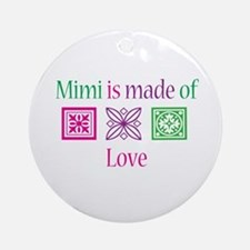 Mimi Made of Love Ornament (Round)