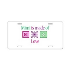 Mimi Made of Love Aluminum License Plate