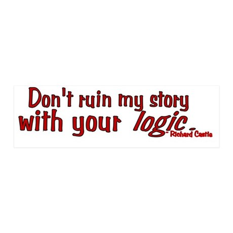 Castle Don't Ruin My Story 20x6 Wall Decal
