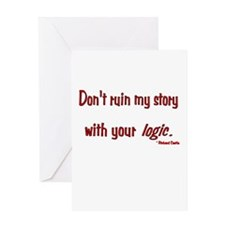 Castle Don't Ruin My Story Greeting Card