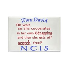 NCIS Ziva Quote: Scotch Free Rectangle Magnet