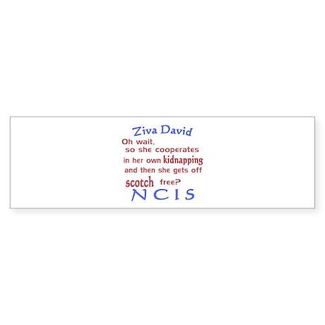 NCIS Ziva Quote: Scotch Free Sticker (Bumper)