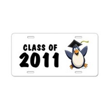 Class of 2011 Penguin Aluminum License Plate